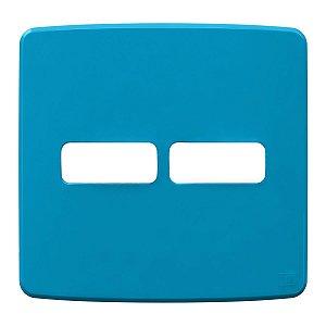 Placa 4x4 2 Posiçoes Azul Compose Weg