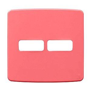 Placa 4x4 2 Posiçoes Rosa Compose Weg