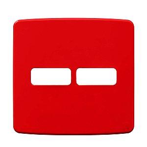 Placa 4x4 2 Posiçoes Vermelho Compose Weg