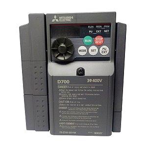 Inversor de Frequencia Mitsubishi D700 Trifasico 5A 380/440V 3CV