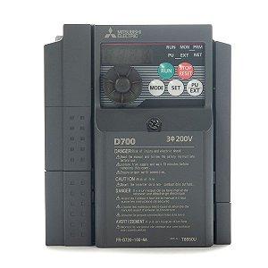 Inversor de Frequencia Mitsubishi D700 Trifasico 10A 220V 3CV