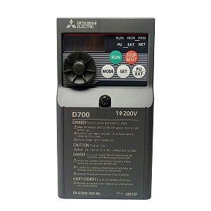 Inversor de Frequencia Mitsubishi D700 Mono 2,5A 220V 0,5CV