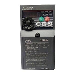 Inversor de Frequencia Mitsubishi D700 Mono 4,2A 220V 1CV