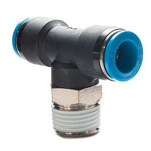 Conexao Pneumatica Engate Rapido Tipo T Festo Rosca 1/2 x 12mm