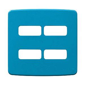 Placa 4x4 4 Posiçoes Compose Azul Weg