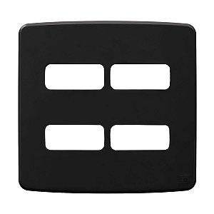 Placa 4x4 4 Posiçoes Compose Preta Weg