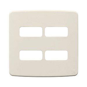 Placa 4x4 4 Posiçoes Compose Marfim Weg