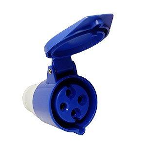 Tomada Industrial Pendente 224-9 32A 9H 220V 3P+T Azul