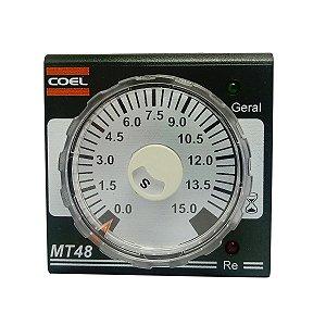 Rele de Tempo Analógico 90-240Vca 15 s/m COEL