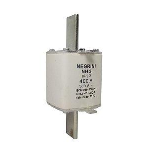 Fusível Tipo NH2 400A x 500V (Ultra Rapido) Negrini