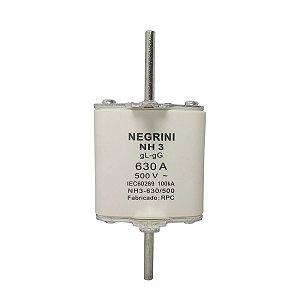 Fusível Tipo NH2 630A x 500V Ultra Rapido Negrini