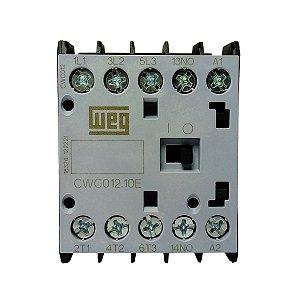 Mini Contator Tripolar AZ CWC012 12A 380VAC 1NA Weg