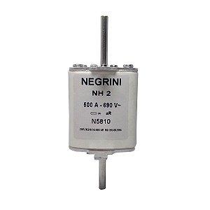 Fusível Tipo NH2 500A 690V Ultra Rápido Negrini