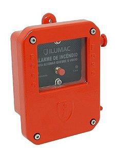 Acionador Manual Endereçável à Prova de Tempo AMPW-E Ilumac