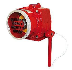 Acionador Manual Endereçável à Prova de Explosão AMPX-E Ilumac