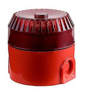 Sirene Audiovisual Endereçável Vermelha SAV-E Ilumac