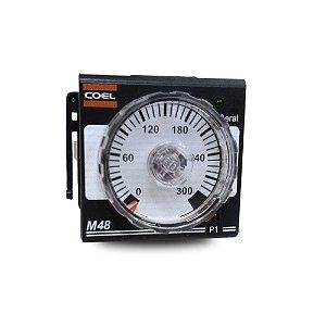 Controlador de Temperatura Analógico Coel M48 Sensor 0-300°C