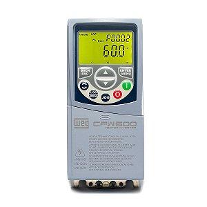 Inversor de Frequência Weg CFW500 Monofásico 220V 2,6A 0,5CV