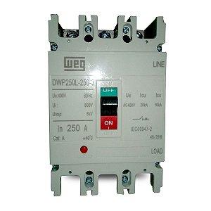 Disjuntor Caixa Moldada Weg DWP250L-250-3 250A Tripolar