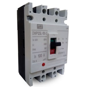 Disjuntor Caixa Moldada Weg 100A DWP125L-100-3 Tripolar