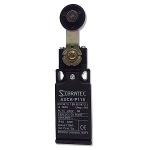 Chave Fim de Curso Plástico AXCK-P118 Alavanca e Roldana Sibratec