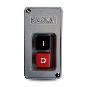 Interruptor de Tecla Tripolar Margirius Cs-102 20A Preto e Vermelho