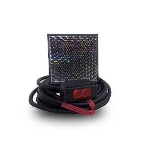 Sensor Óptico Reflexivo Retangular Plástico 12a24Vcc PNP Weg
