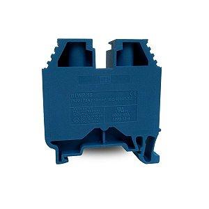 Borne Comum BTWP Weg 16mm2 Azul Terminal Conexão Parafuso