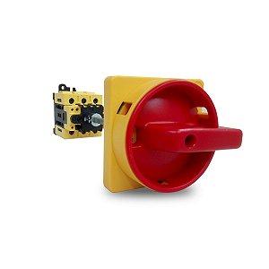 Chave Comutadora Rotativa MSW 25A Fixação Base Haste 85mm Weg