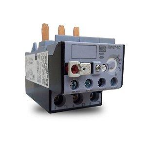Relé de Sobrecarga Térmico Tripolar RW67 25A a 40A Azul Weg