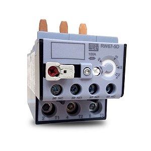 Relé de Sobrecarga Térmico Tripolar RW67 40A a 57A Azul Weg