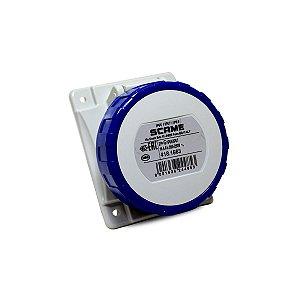 Tomada de Embutir Scame 2P+T 16A 220V 6h 70x87mm Azul