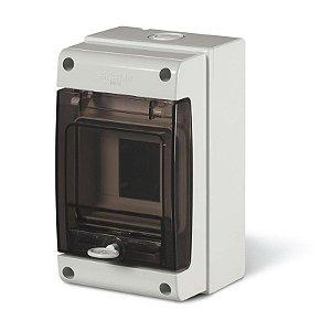 Caixa de Sobrepor Scame 190x112x106mm 4 Disjuntores Din Cinza