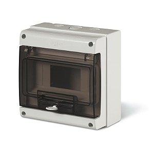 Caixa de Sobrepor Scame 190x184x106mm 8 Disjuntores Din Cinza