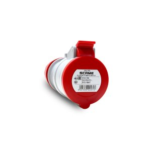 Tomada Industrial Pendente Scame 3P+N+T 16A 380V 6h Vermelha