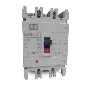 Disjuntor em Caixa Moldada Tripolar Weg DWP250L 150A