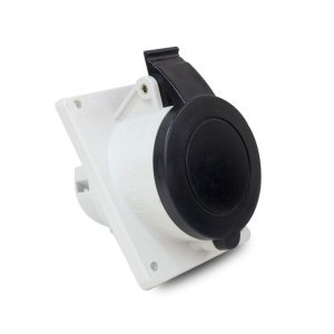 Tomada Industrial de Embutir 32A 600V Scame 3P+N+T 5h IP44
