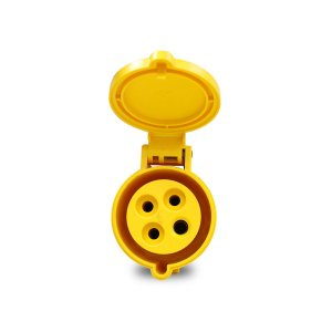 Tomada Industrial Pendente Scame 3P+T 32A 127V 4h Amarelo