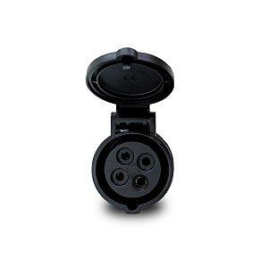 Plug Industrial Scame 3P+T 16A 600V 5h Preto