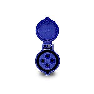 Tomada Industrial Pendente Scame 3P+T 32A 220V 9h Azul