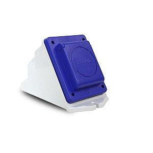 Kit Scame Tomada 2P+T 20A 250V Azul + Caixa Sobrepor
