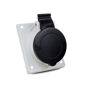Tomada Industrial de Embutir Scame 16A 600V 3P+T 5h IP44
