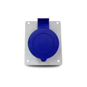 Tomada de Embutir Scame 2P+T 32A 220V 6h 84x106mm Azul