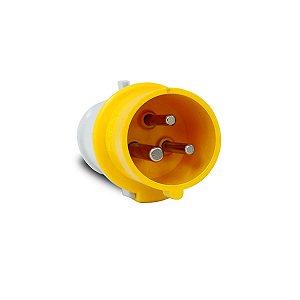 Plug Industrial Amarela Scame 2P+T 16A 127V 4h