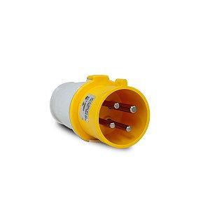 Plug Industrial Scame 3P+T 32A 127V 4h Amarela