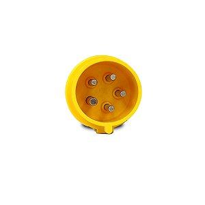 Plug Industrial Scame 3P+N+T 32A 127V 4h Amarelo