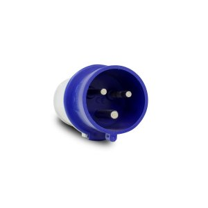 Plug Industrial Scame 2P+T 32A 220V 6h Azul