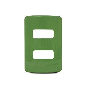 """Placa 4X2"""" 2 Posições Weg Composé Verde"""