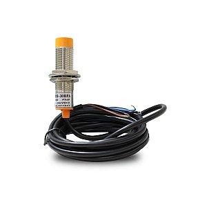 Sensor Indutivo Não Faceado LM18 com Cabo PNP NA 6-36Vcc