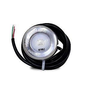 Refletor RGB Tholz Premium 9W em Inox Cabo 2m para Piscina